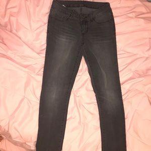 Bullhead gray skinny jeans size 3